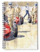 Monaco Gp 1961 Ferrari 156 Sharknose  Spiral Notebook