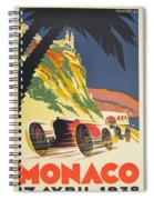Monaco Grand Prix 1932 Spiral Notebook