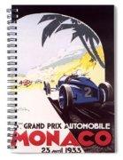 Monaco Grand Prix 1933 Spiral Notebook