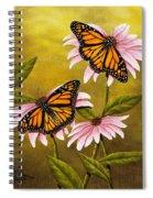 Monarchs And Coneflower Spiral Notebook