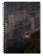 Monastary At Meteora  Greece   #9635 Spiral Notebook