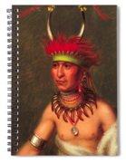 Monchousia . White Plume  Kansa Spiral Notebook