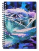 Monet Frosted Rose Spiral Notebook