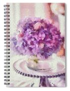 Monet Purple Pedestal Spiral Notebook