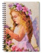 Monet Silked Angel Spiral Notebook