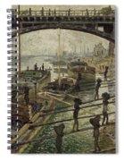 Monet The Coalmen 1875 Spiral Notebook