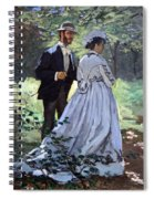 Monet's Bazille And Camille Spiral Notebook