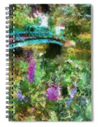 Monet's Bridge In Spring Spiral Notebook