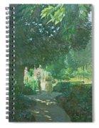 Monets Garden Oil On Board Spiral Notebook