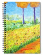 Monet's Garden Path Spiral Notebook