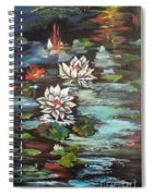 Monet's Pond With Lotus 1 Spiral Notebook