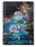 Monet's Pond With Lotus 11 Spiral Notebook