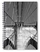 Monochromatic View Of Brooklyn Bridge Spiral Notebook