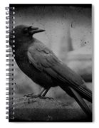Monochrome Crow Spiral Notebook