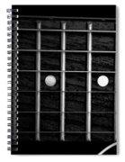 Monochrome Fretboard Spiral Notebook