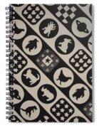 Monochrome Mosaic Spiral Notebook