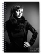 Monochrome Woman Spiral Notebook
