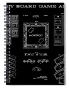 Monopoly Board Game Black Patent Art  1935 Spiral Notebook