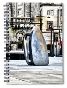 Monopoly Iron Statue In Philadelphia Spiral Notebook