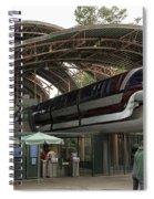 Monorail Depot Disneyland 02 Spiral Notebook
