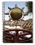 Monorail Signage Disneyland Spiral Notebook