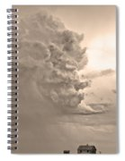 Monster Cloud Sepia Country Spiral Notebook