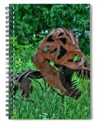 Monster In The Grass Spiral Notebook