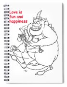 Monster Valentine Spiral Notebook