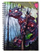 Monster With Flag Spiral Notebook