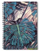 Monstera Blues Spiral Notebook
