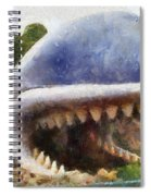 Monstro The Whale At Disneyland All Teeth Photo Art Spiral Notebook