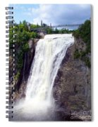 Mont Morency Falls Spiral Notebook