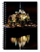 Mont Saint Michel At Night 1 Spiral Notebook