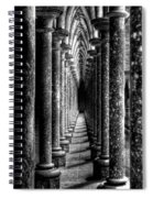 Mont St Michel Pillars Spiral Notebook
