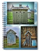 Montage Of Outhouses Spiral Notebook