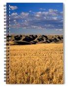 Montana   Field And Hills Spiral Notebook