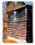 Montana Outhouse 03 Spiral Notebook