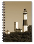 Montauk Point Light In Sepia Spiral Notebook