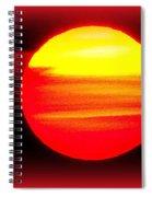 Montauk Sunset Abstract Spiral Notebook