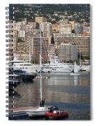 Monte Carlo Sailing - Monaco French Riviera Spiral Notebook