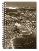 Aerial Of Monterey And Pacific Grove  California Oct. 25 1934 Spiral Notebook