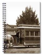 Monterey And Pacific Grove Street Railway Circa 1895 Spiral Notebook