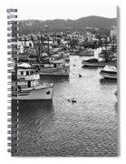 Monterey Harbor Full Of Purse-seiner Fishing Boats California 1945 Spiral Notebook