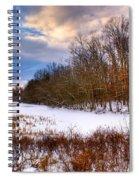 Monterey Lake Snow Day Spiral Notebook
