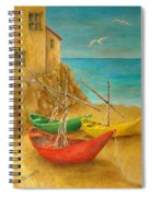 Monterosso On Riviera Di Levante Spiral Notebook