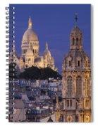 Montmartre Twilight Spiral Notebook