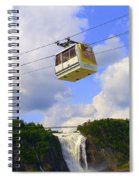 Montmorency Falls And Gondola Spiral Notebook