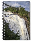 Montmorency Falls Park Quebec City Canada Spiral Notebook