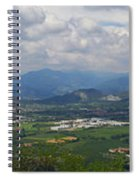 Montorfano. A View To Lake Iseo Spiral Notebook