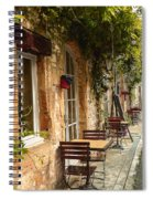 French Cafe Spiral Notebook